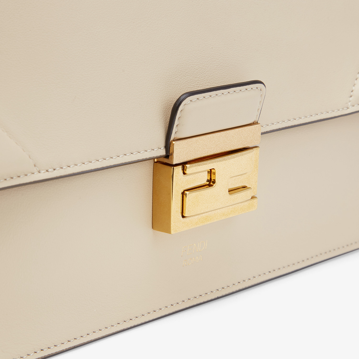 FENDI KAN U - Beige leather bag - view 6 detail