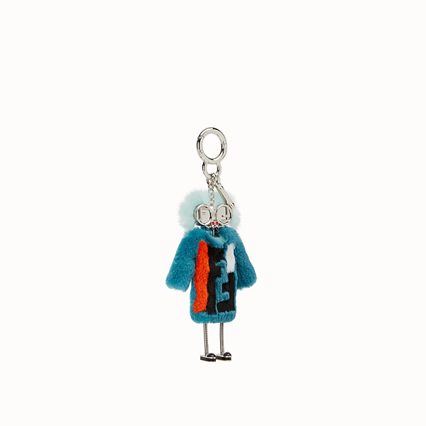 FENDI TEEN WITCHES CHARM - Turquoise rabbit fur charm - view 1 small thumbnail