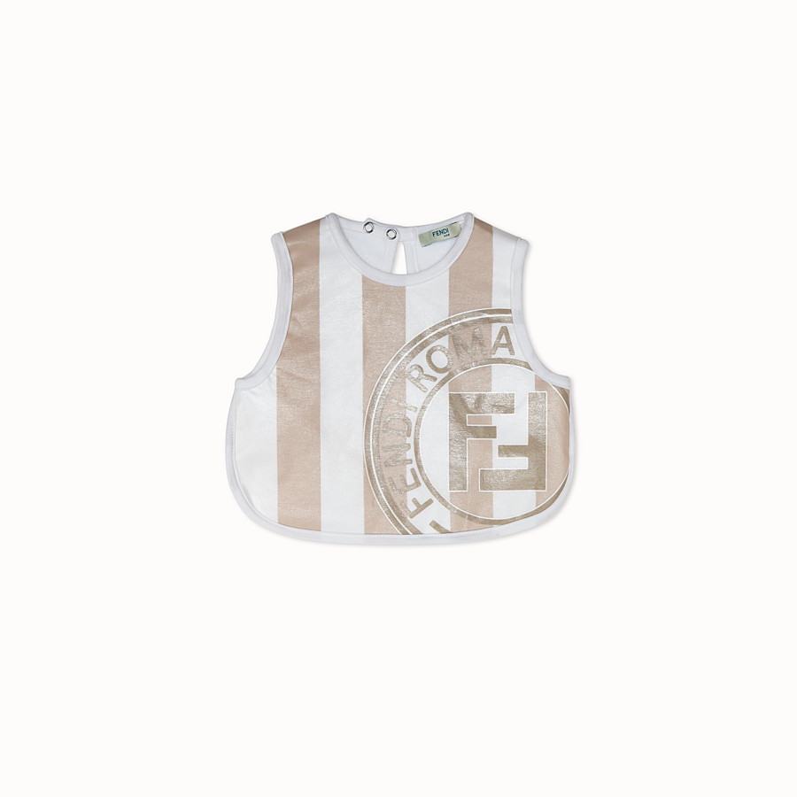 FENDI BIB - White and ivory jersey bib - view 1 detail