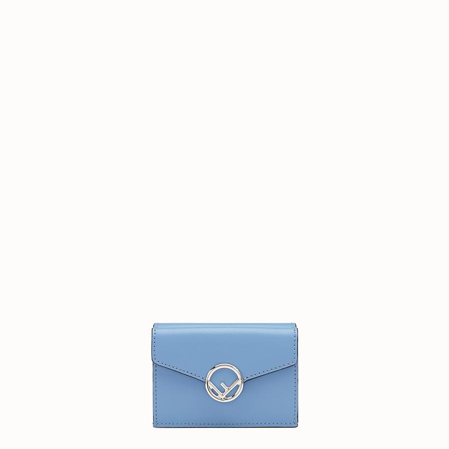 FENDI マイクロ 三つ折り財布 - ブルーレザー 長財布 - view 1 detail