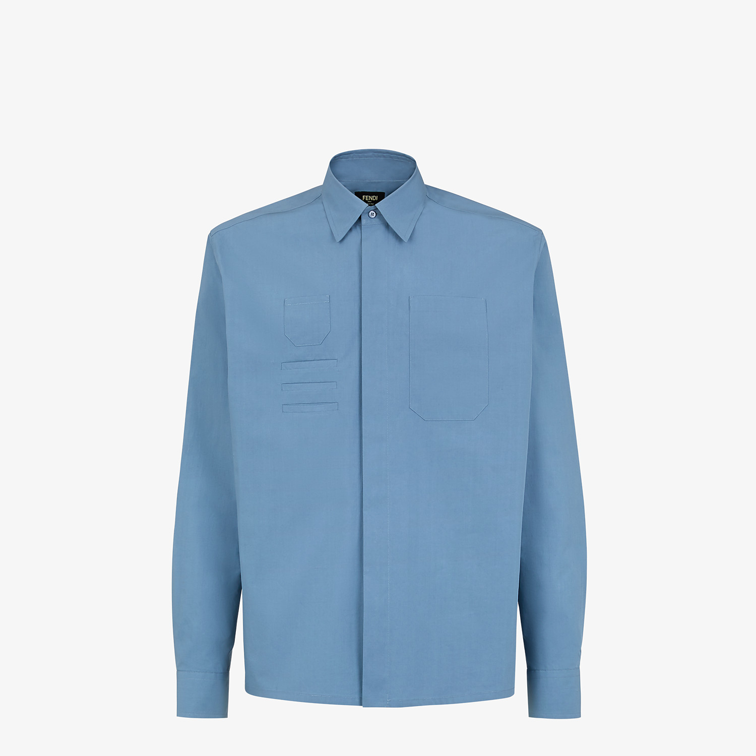 FENDI SHIRT - Light blue cotton shirt - view 1 detail