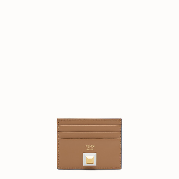 FENDI CARD HOLDER - Two-tone leather card holder with six slots - view 1 small thumbnail