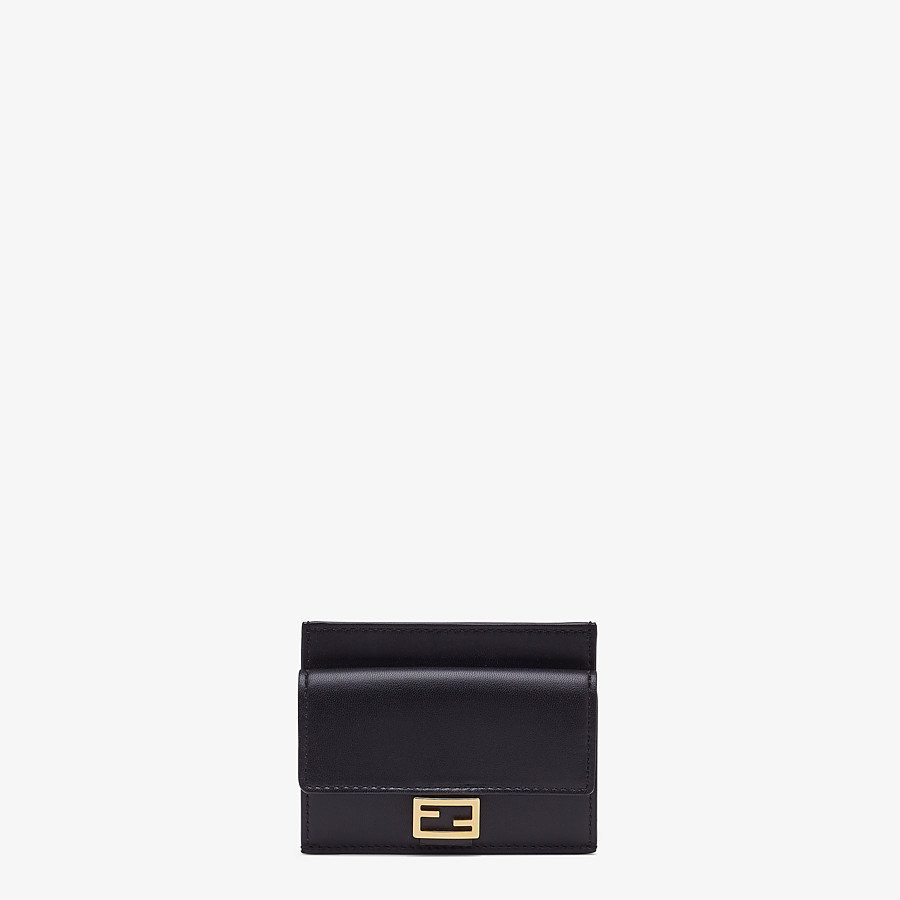 FENDI CARD HOLDER - Black nappa leather cardholder - view 1 detail
