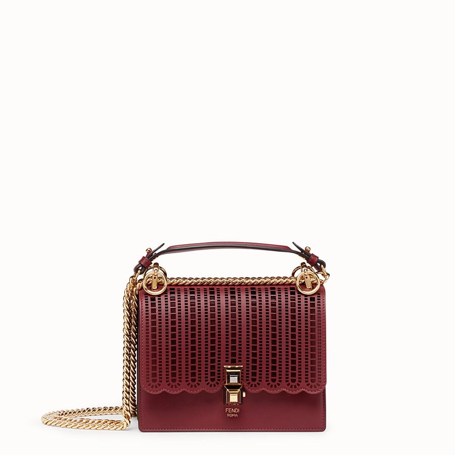 Mini sac en cuir bordeaux - KAN I SMALL   Fendi 74bac3fdec6