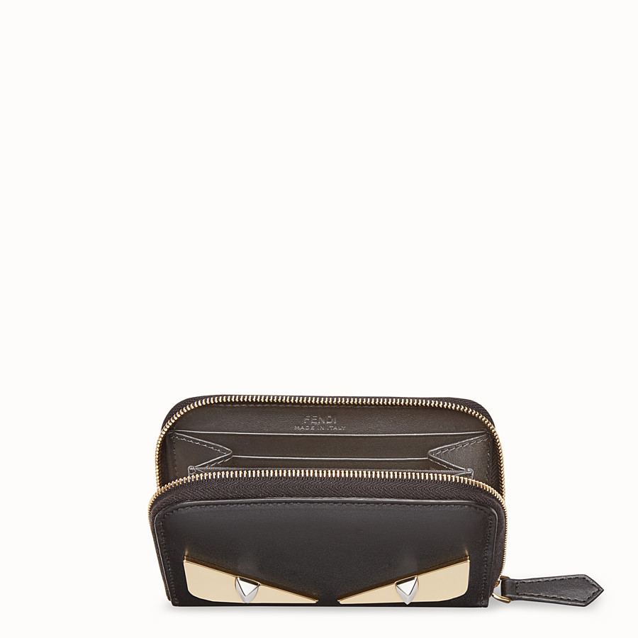 FENDI SMALL ZIP-AROUND - Black leather wallet - view 4 detail