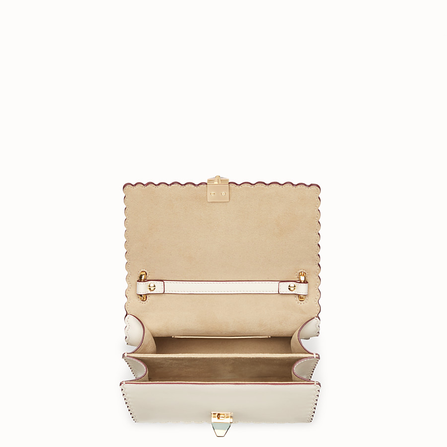 FENDI KAN I SMALL - Mini sac en cuir blanc - view 4 detail