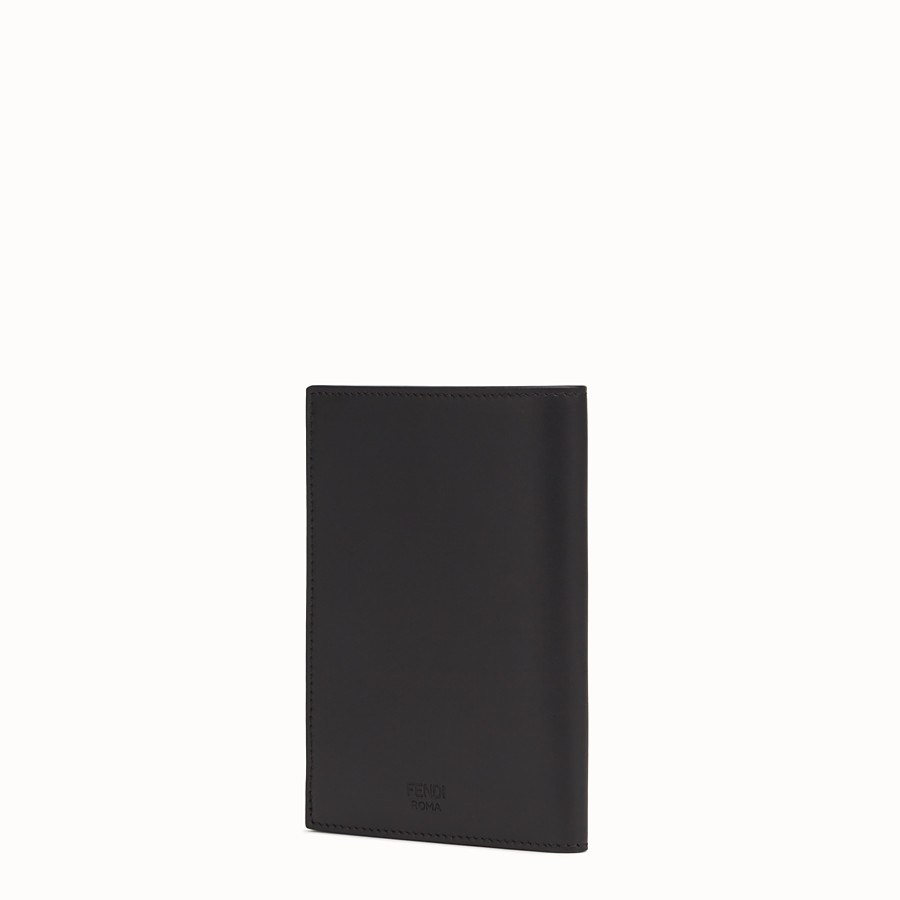 FENDI PASSPORT COVER - Black leather passport cover - view 2 detail