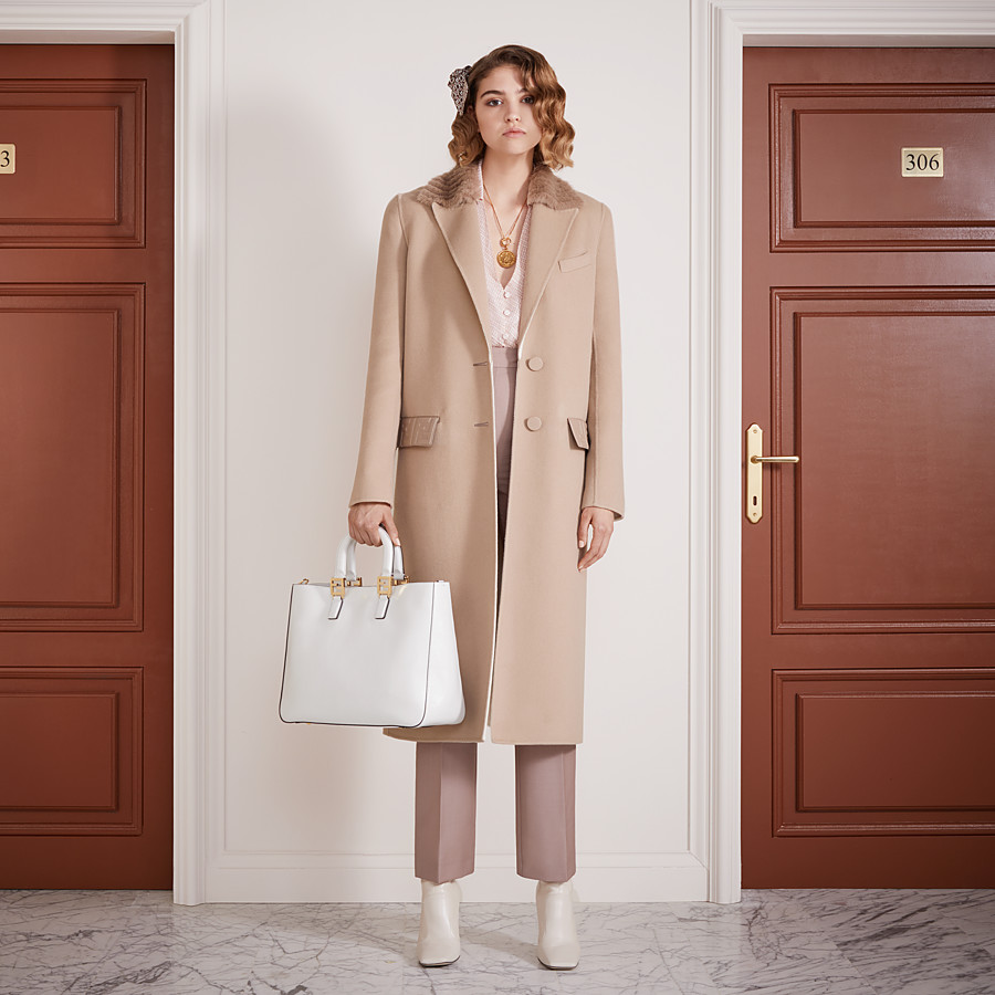 FENDI OVERCOAT - Beige cashmere coat - view 4 detail
