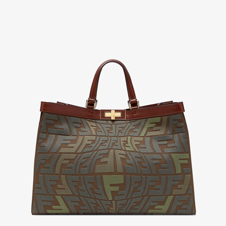 FENDI PEEKABOO X-TOTE - Embroidered green canvas bag - view 1 detail