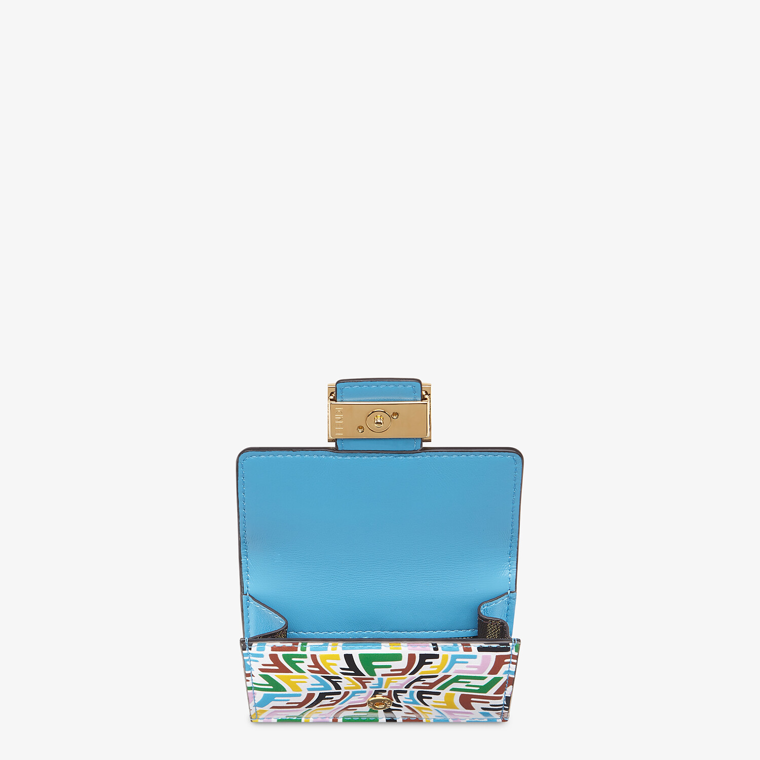 FENDI MICRO TRIFOLD - Multicolor leather wallet - view 3 detail