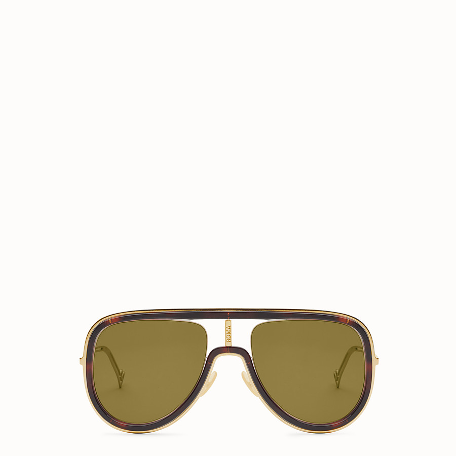 FENDI FUTURISTIC FENDI - Sonnenbrille in Gold und Havanna - view 1 detail