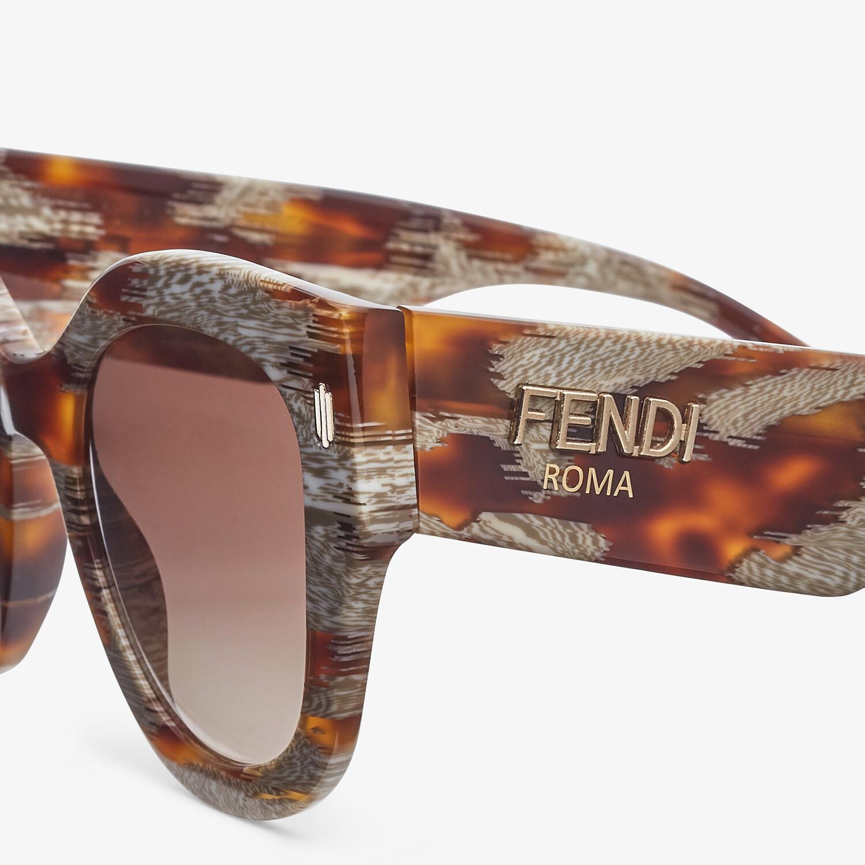 FENDI FENDI ROMA - Gafas de sol de acetato havana animal - view 3 detail