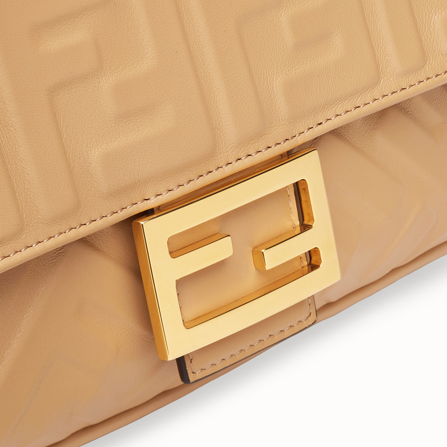 FENDI BAGUETTE - Beige leather bag - view 5 detail