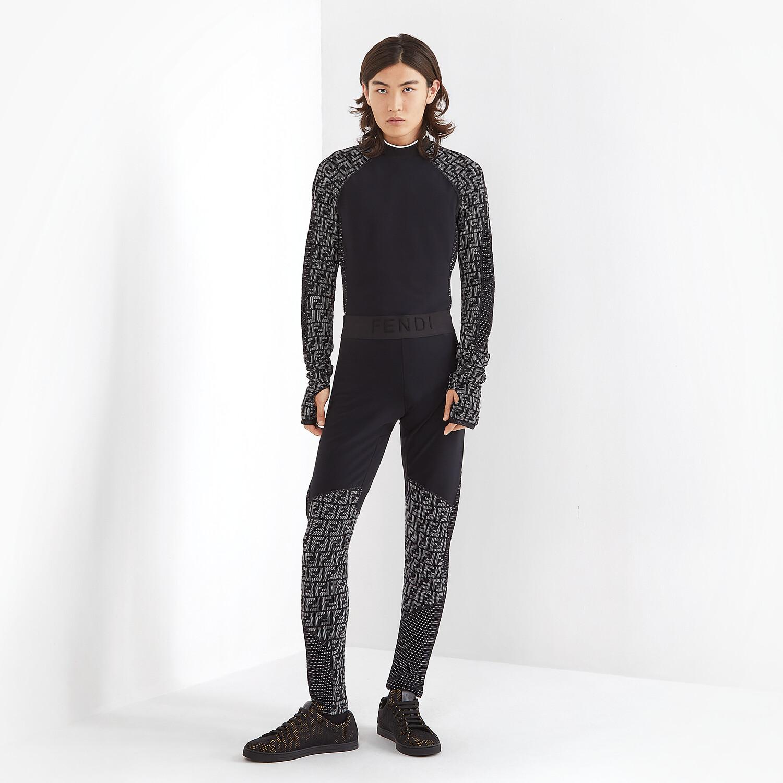FENDI SNEAKERS - Black mesh low-tops - view 5 detail