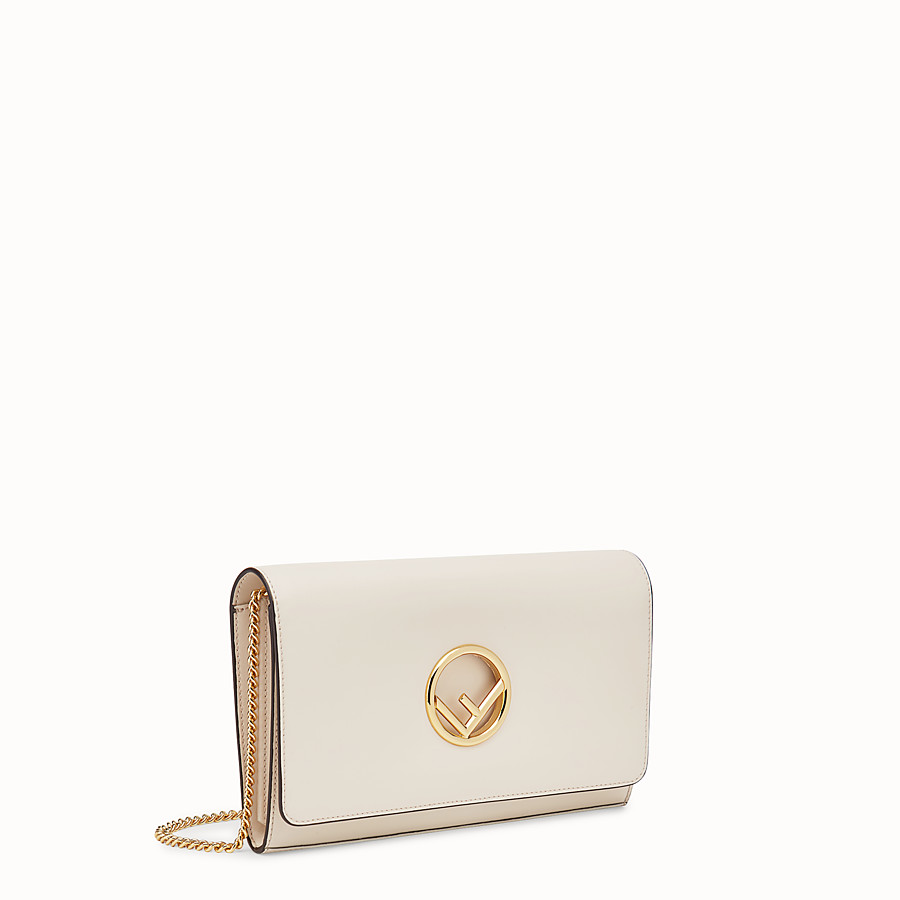 FENDI WALLET ON CHAIN - White leather mini-bag - view 2 detail