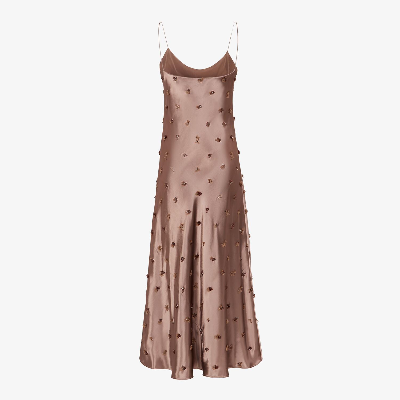 FENDI DRESS - Brown satin dress - view 2 detail