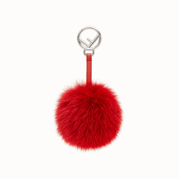 FENDI POM-POM CHARM - Red fox fur charm - view 1 small thumbnail