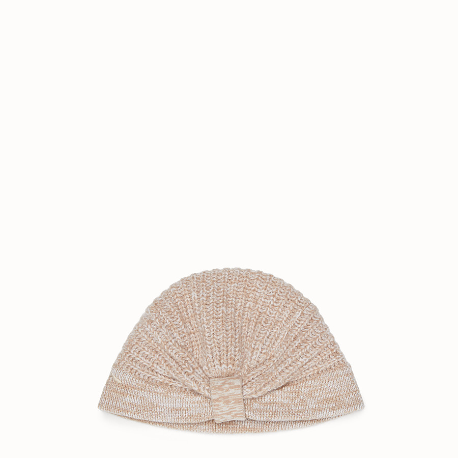 FENDI HAT - Beige cashmere hat - view 1 detail