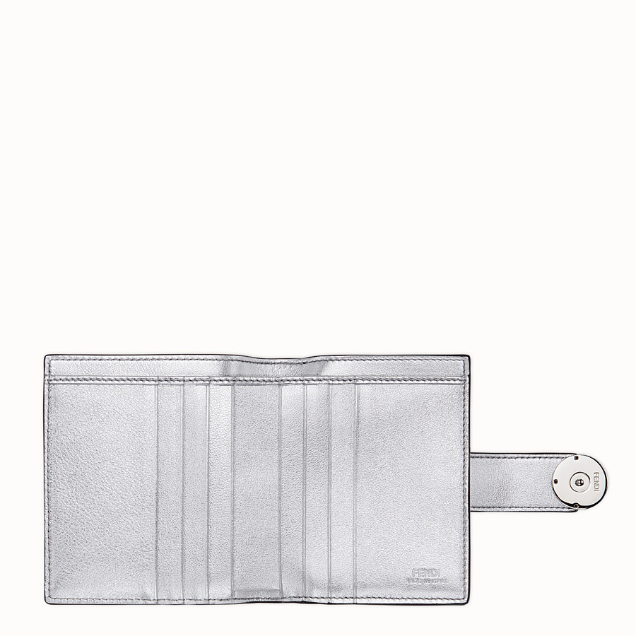 FENDI BIFOLD - Compact, silver leather wallet - view 4 detail