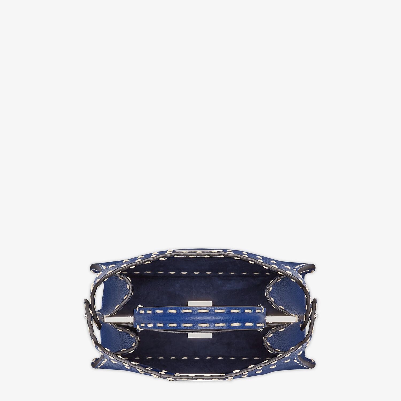 FENDI PEEKABOO ISEEU SMALL - Blue full grain leather bag - view 4 detail