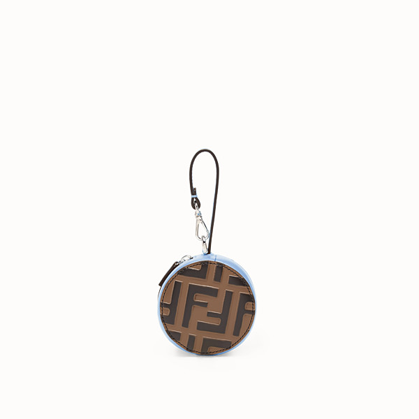 FENDI TOTE BAG CHARM - Pale blue leather charm - view 1 small thumbnail