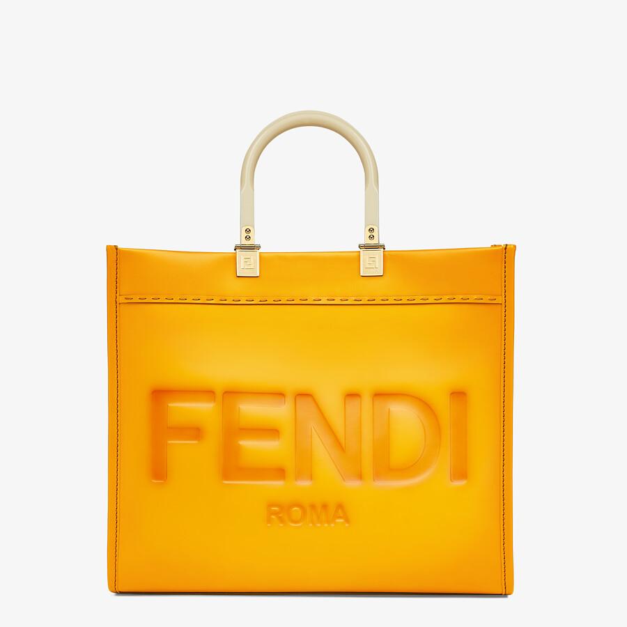 FENDI FENDI SUNSHINE MEDIUM - Orange leather shopper - view 1 detail