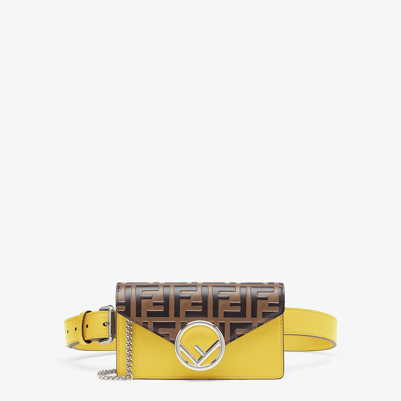 FENDI BELT BAG - Yellow leather belt bag - view 1 detail