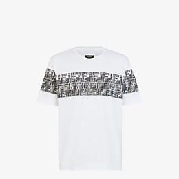 FENDI T-SHIRT - White cotton T-shirt - view 1 thumbnail