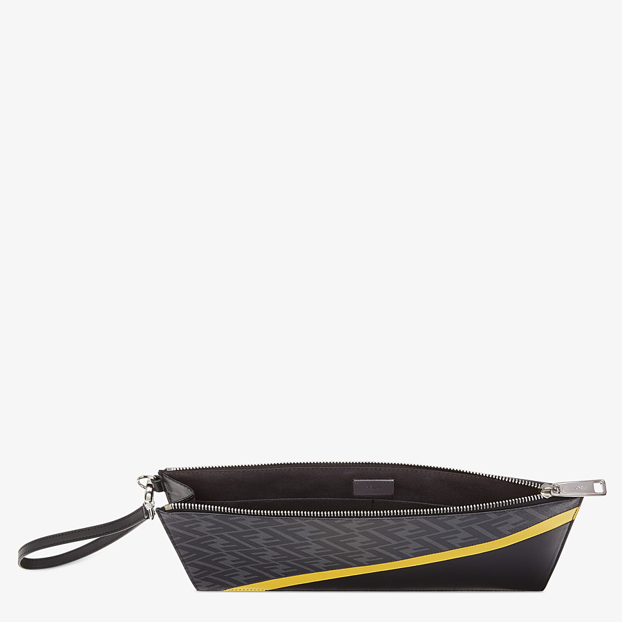 FENDI FLAT POUCH - Grey fabric bag - view 3 detail