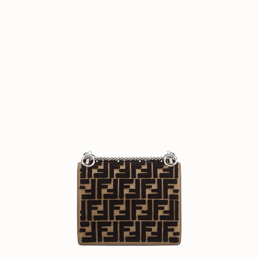 FENDI KAN I SMALL - Brown leather minibag - view 3 detail
