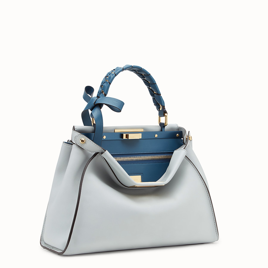 FENDI PEEKABOO REGULAR - Grey leather bag - view 2 detail