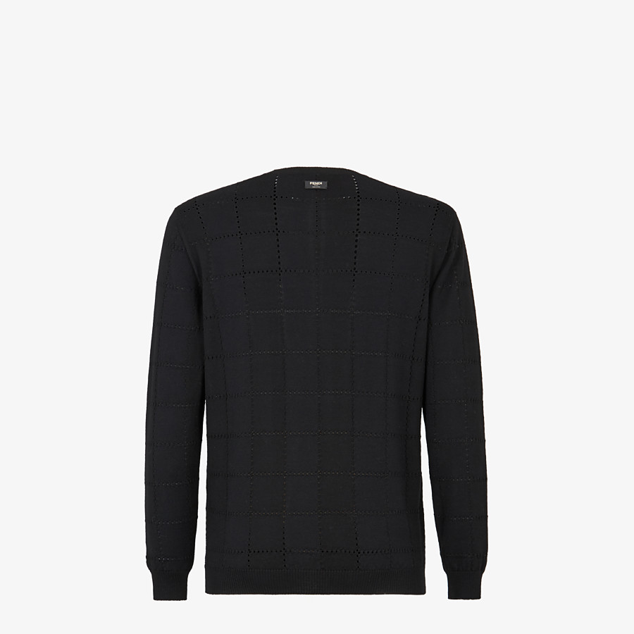 FENDI SWEATER - Black wool sweater - view 2 detail