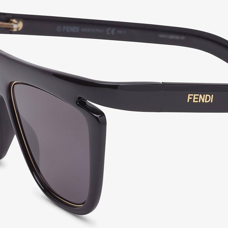 FENDI FFLUO - Black sunglasses - view 3 detail