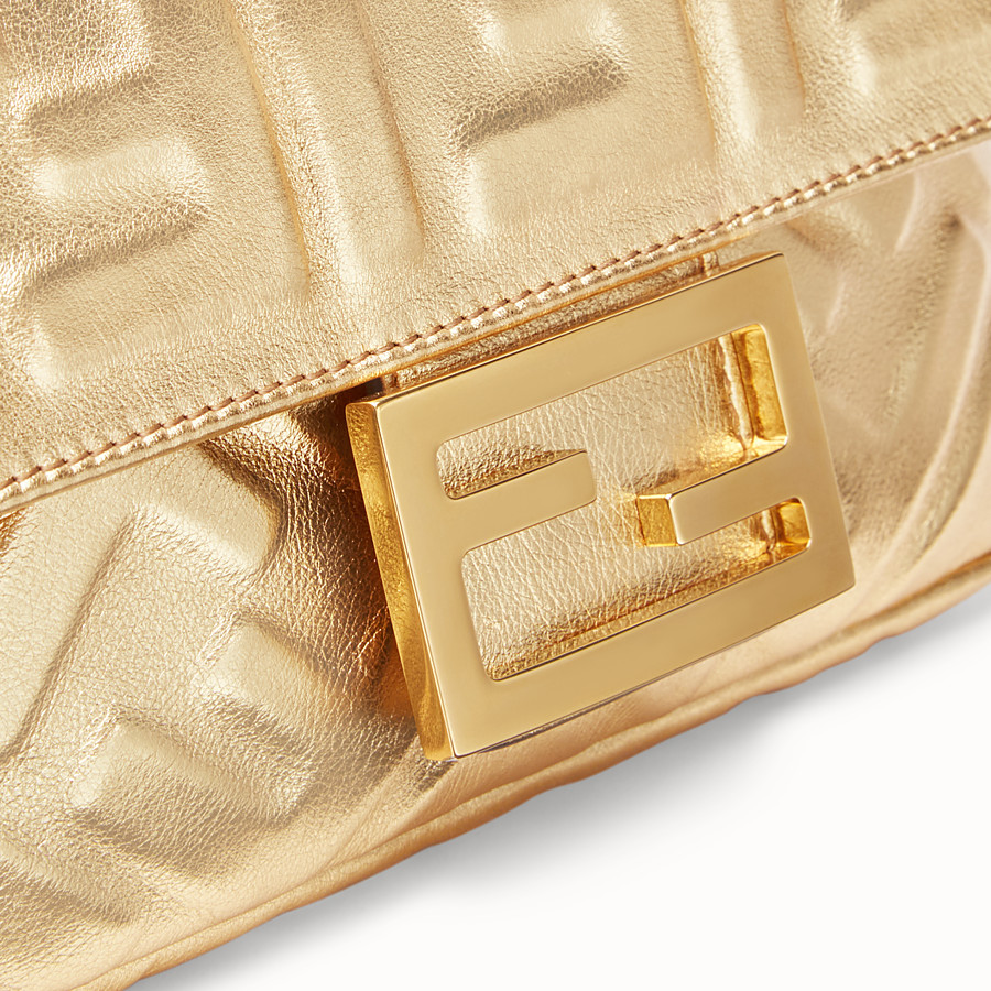 FENDI BAGUETTE MINI - Golden leather bag - view 6 detail