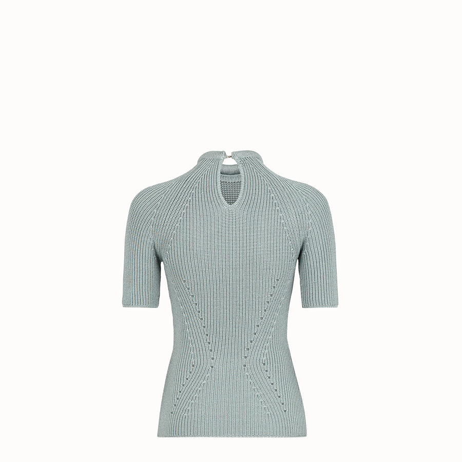 FENDI JUMPER - Pullover in light blue silk - view 2 detail