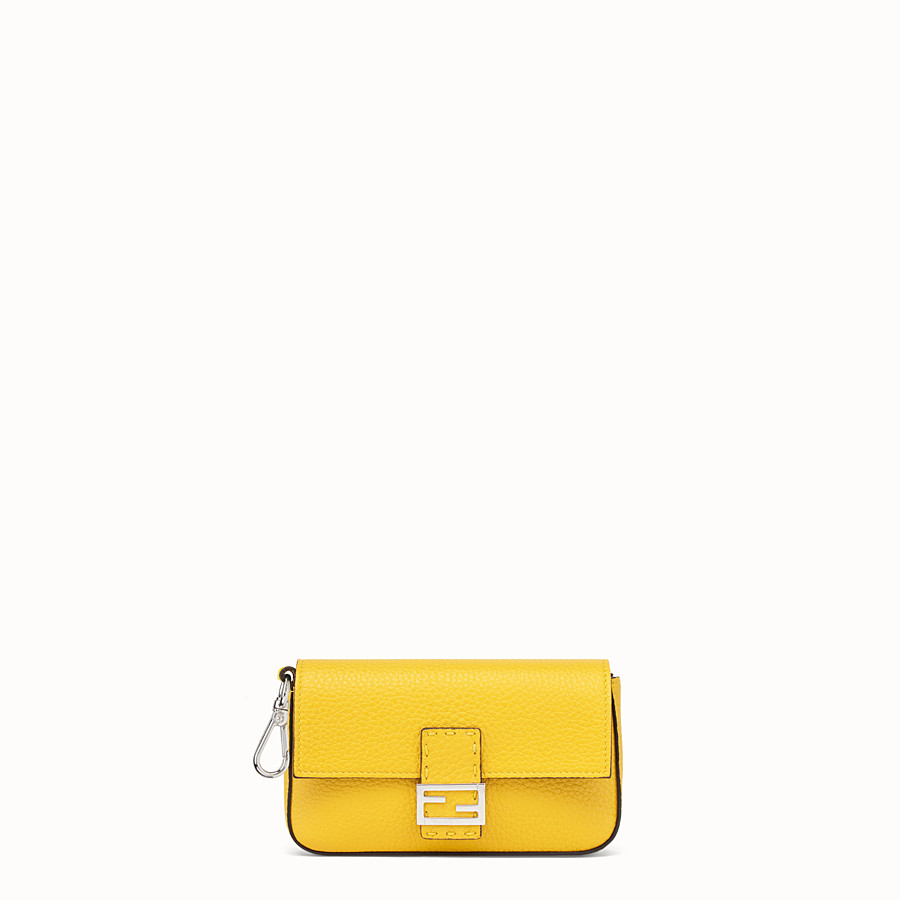FENDI MICRO BAGUETTE - Yellow leather micro-bag - view 1 detail