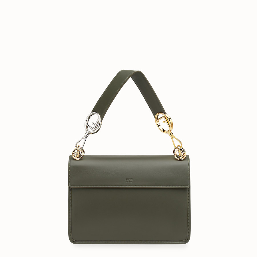 FENDI KAN I F - Green leather bag - view 3 detail