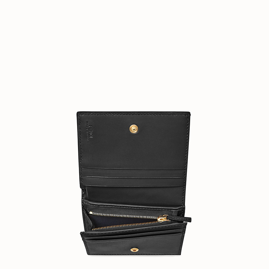 FENDI SMALL WALLET - Black nappa leather wallet - view 3 detail