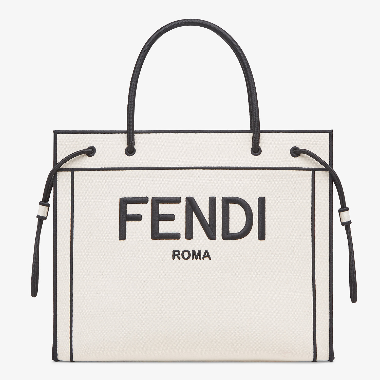 FENDI SHOPPER FENDI ROMA GRANDE - Bolso shopper de lona natural - view 1 detail