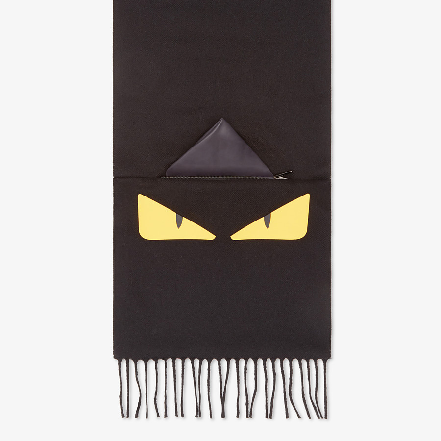 FENDI SCARF - Black wool scarf - view 1 detail