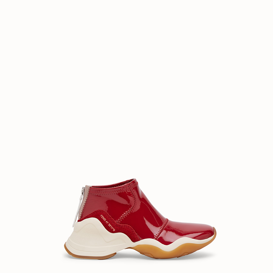 FENDI SNEAKERS - Sneakers aus Glossy-Neopren in Rot - view 1 detail