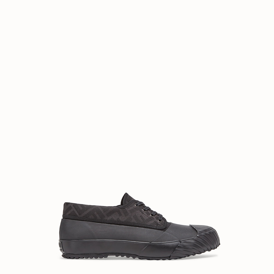 FENDI FENDI AND MOONSTAR SNEAKERS - Low-tops in canvas and black rubber - view 1 detail