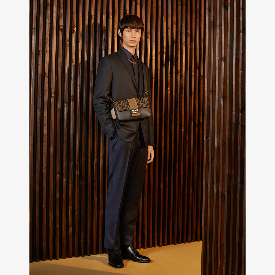 FENDI TROUSERS - Multicolour wool and silk trousers - view 4 detail