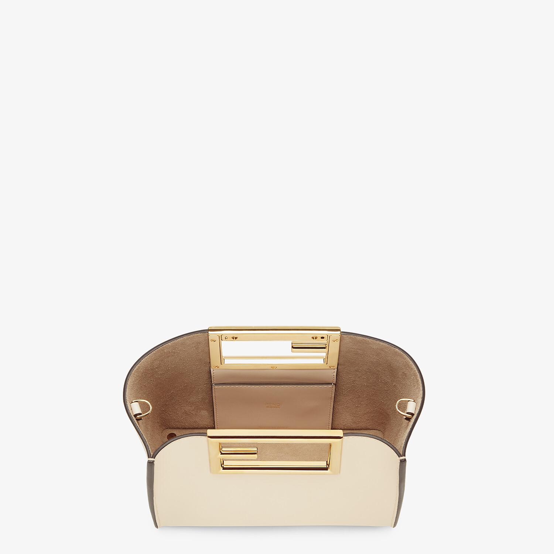 FENDI FENDI WAY SMALL - White leather bag - view 4 detail