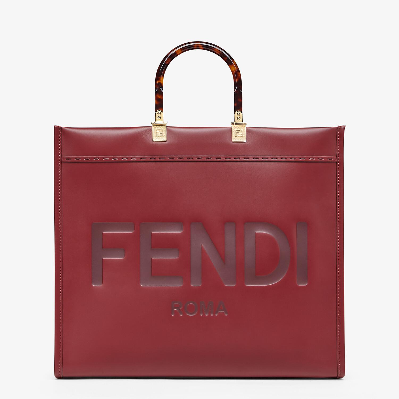 FENDI SUNSHINE SHOPPER - Shopper aus Leder in Bordeaux - view 1 detail