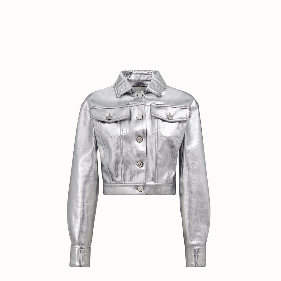 FENDI JACKET - Silver denim jacket - view 1 detail