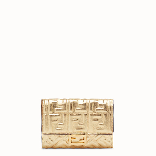 FENDI WALLET - Golden leather wallet - view 1 small thumbnail