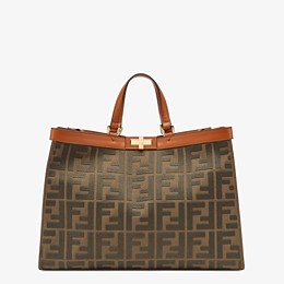 FENDI PEEKABOO X-TOTE - Green canvas bag - view 1 thumbnail