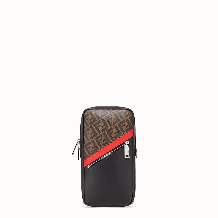 FENDI BELT BAG - One-shoulder backpack in brown fabric - view 1 detail