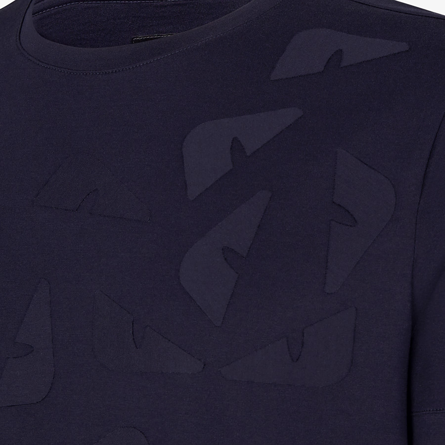 FENDI T-SHIRT - T-Shirt aus Jersey in Blau - view 3 detail